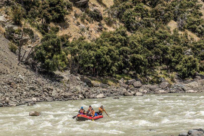 On easier waters below the Jawbreaker Rapid