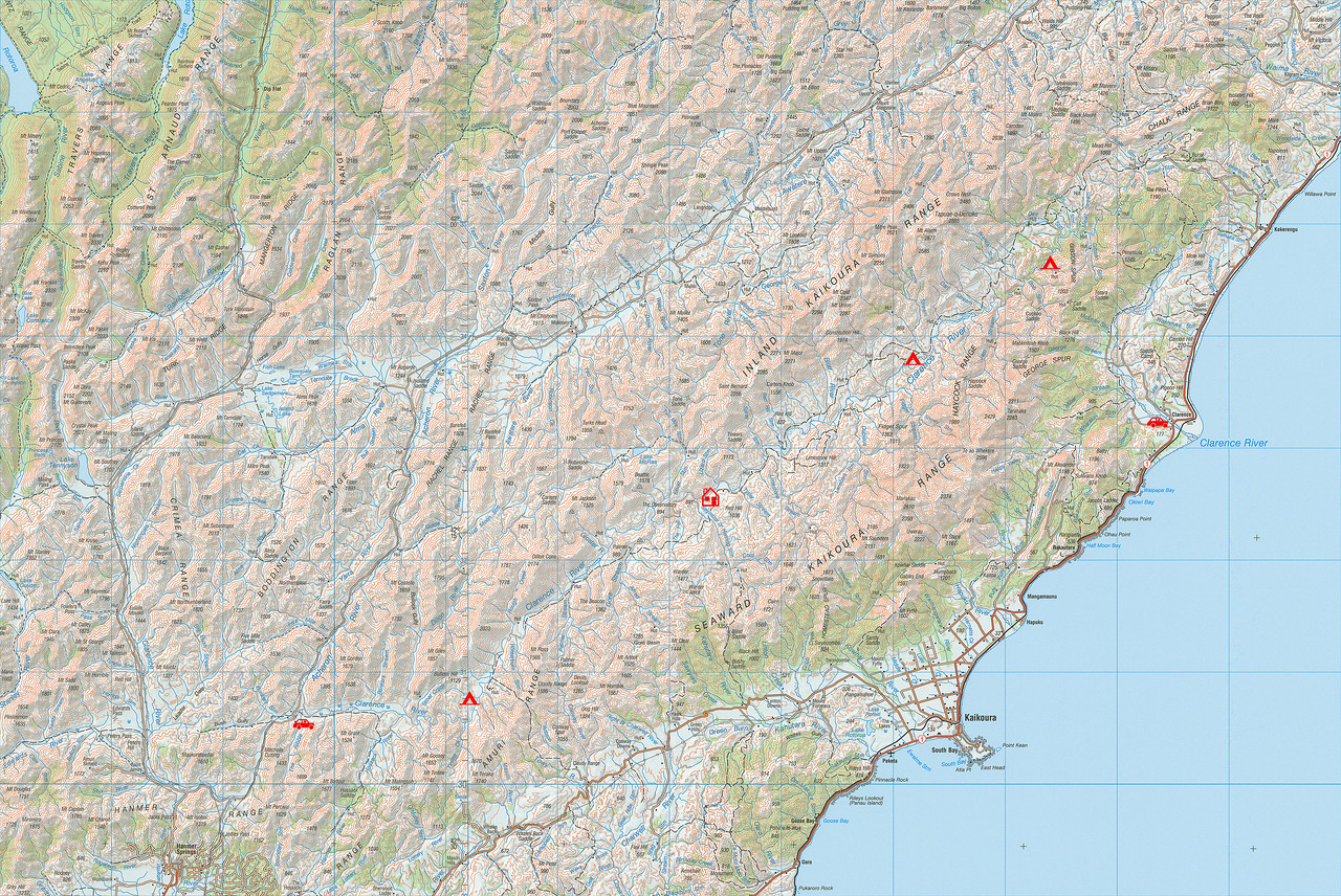 "Clarence River trip map. 1 grid square = 10km. Left click on map then select ""Sizes -> Original"" in bottom right corner of screen to view full size."