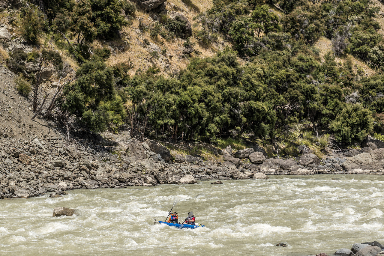 On easier waters below the Jawbreaker Rapid