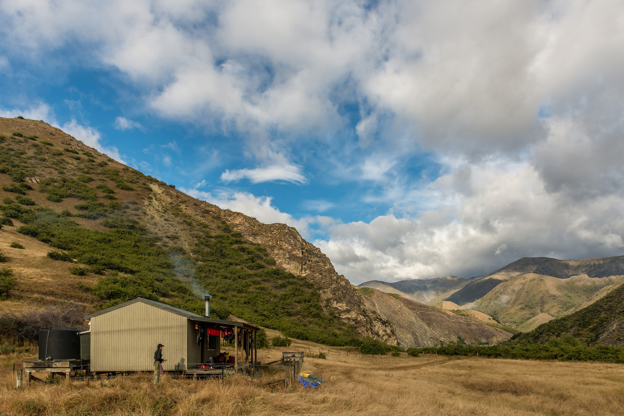 Seymour Hut, our home for the second (rainy) night