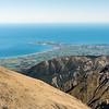 View of the Kaikoura Peninsula from the east ridge of Manakau