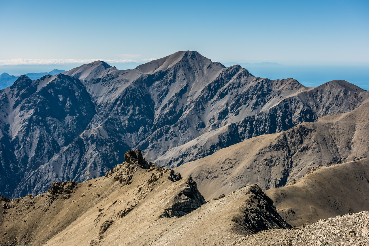 Te ao Whekere from the summit of Manakau. Cape Palliser is visible back right.