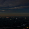 Night view of the Canterbury Plains from the top of Little Mount Peel / Huatekerekere