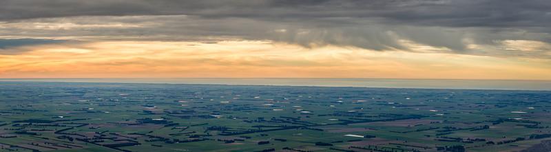 View across the Canterbury Plains from Little Mount Peel / Huatekerekere
