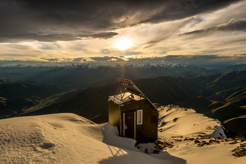 Radio station on the summit of Mount Peel