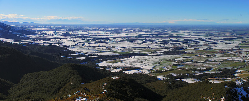 View of the Canterbury Plains from the track to Staveley Hill