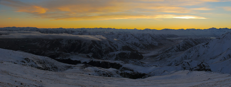 Southern Alps panorama from Mount Somers