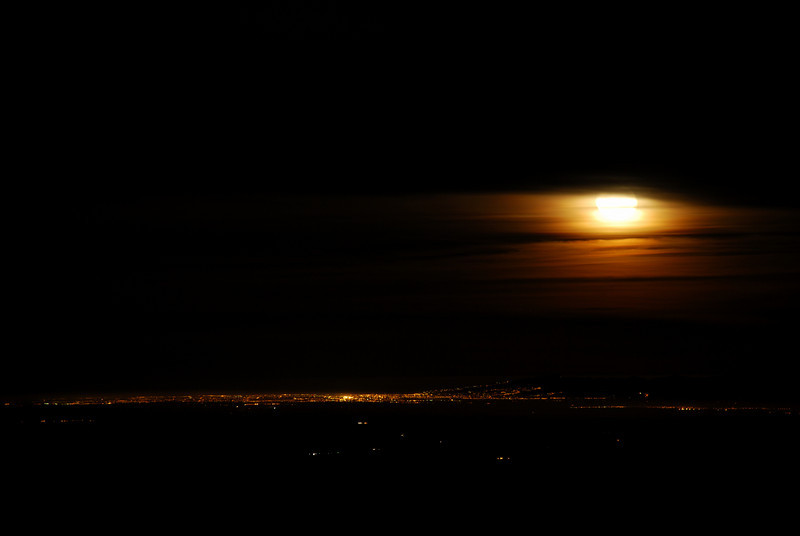 Moonrise over Christchurch