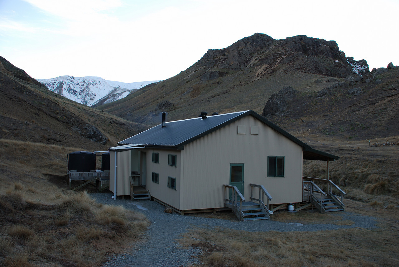 The new Woolshed Creek Hut