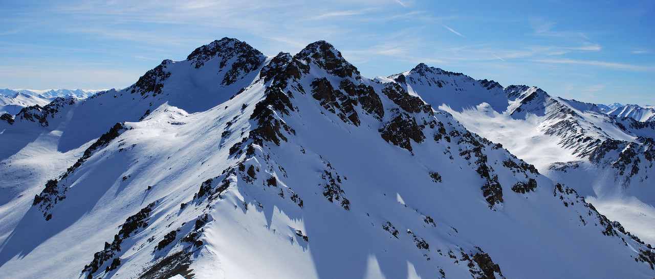 Peak 2281m - the only section of the traverse where I did not follow the ridge...