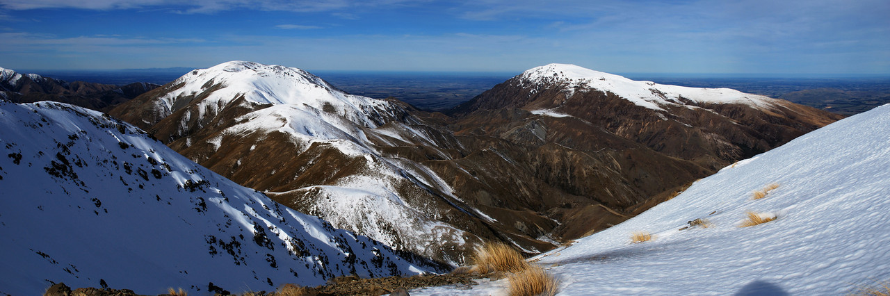 Mt Winterslow and Mt Somers from Knob 1700m