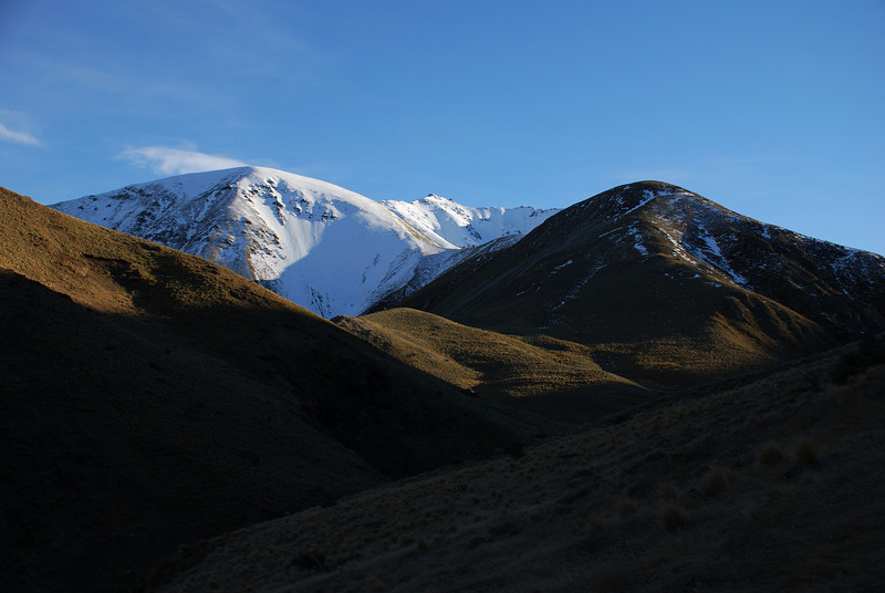 Woolshed Creek headwaters. Knob 1700m at centre image