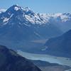 Aiguilles Rouge and Malte Brun, and Tasman Glacier terminal lake
