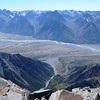 Hoophorn Stream, Tasman River and the Leibig Range from the summit
