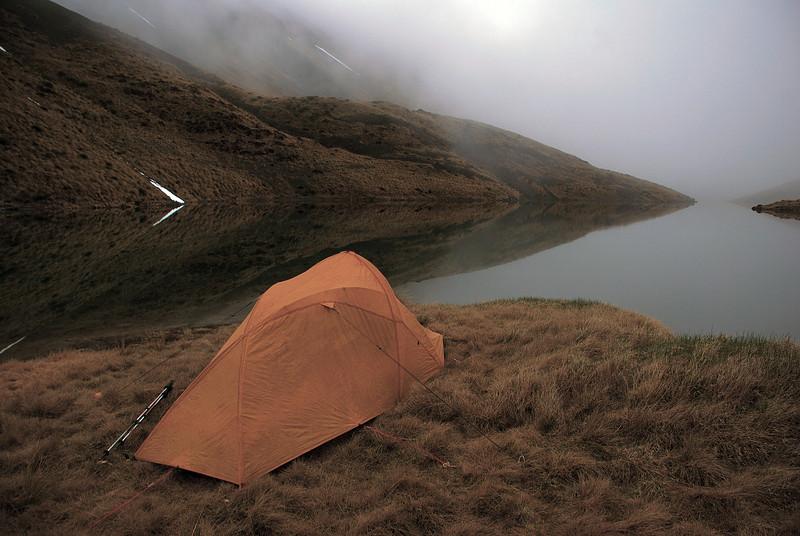 Campsite at the Acheron Lakes