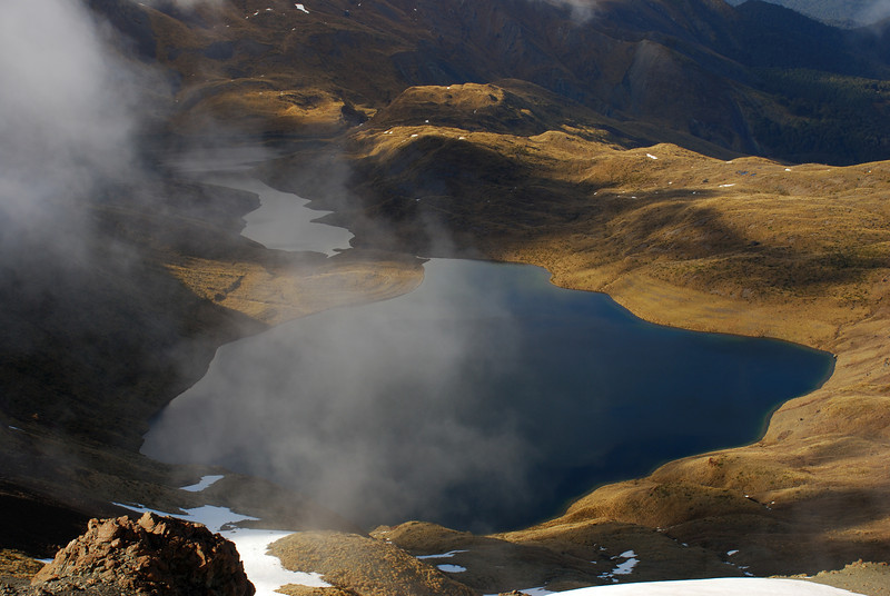 The Acheron Lakes from unnamed peak 1777m, Livingstone Mountains