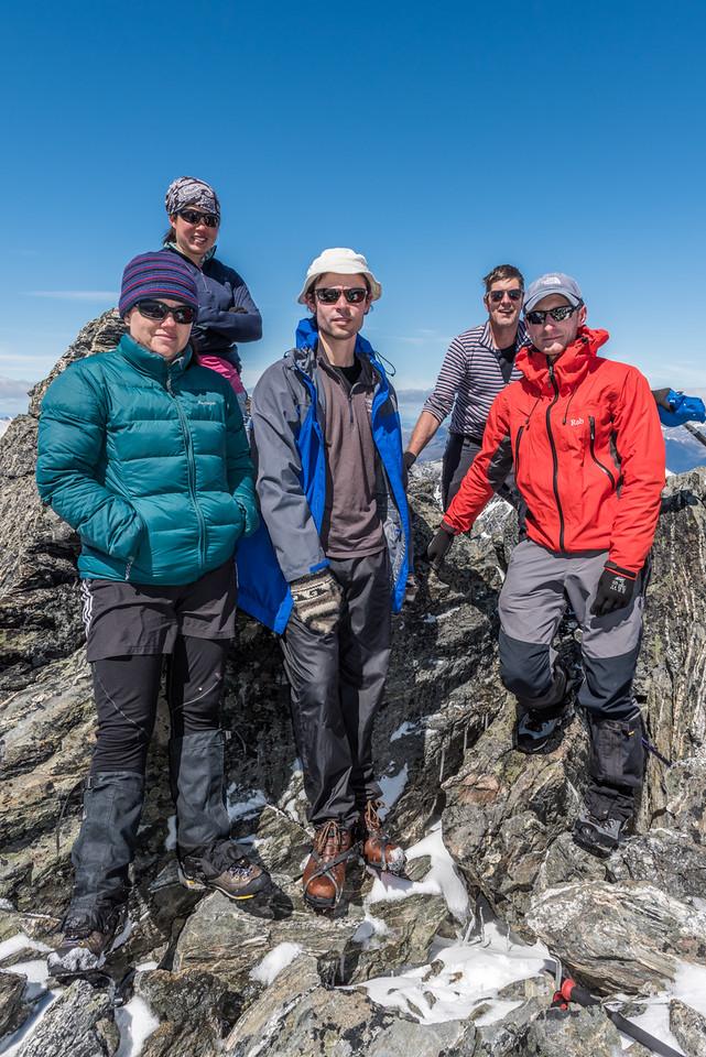 OSONZAC team on the summit of Ben Nevis