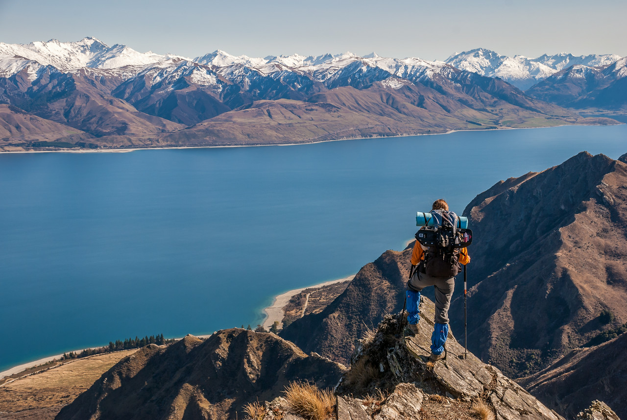 Looking onto Lake Hawea