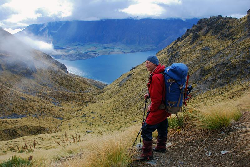 Descending Garden Spur, Cecil Peak
