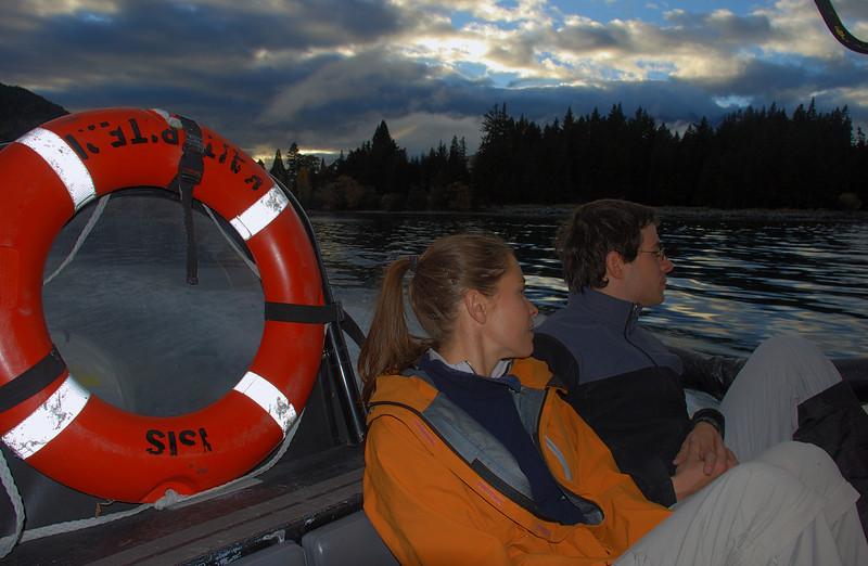 Early morning water-taxi ride across Lake Wakatipu