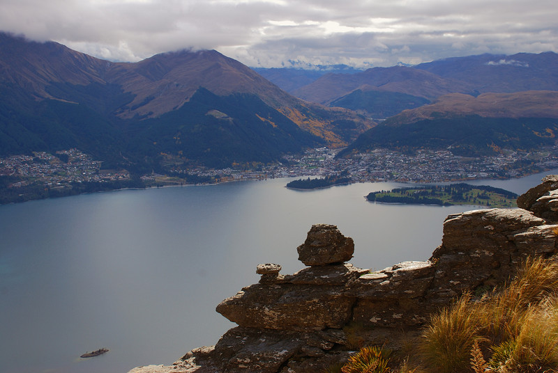 View of Queenstown from Island Spur, Cecil Peak