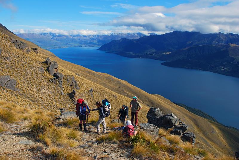 On Island Spur, Cecil Peak, high above Lake Wakatipu