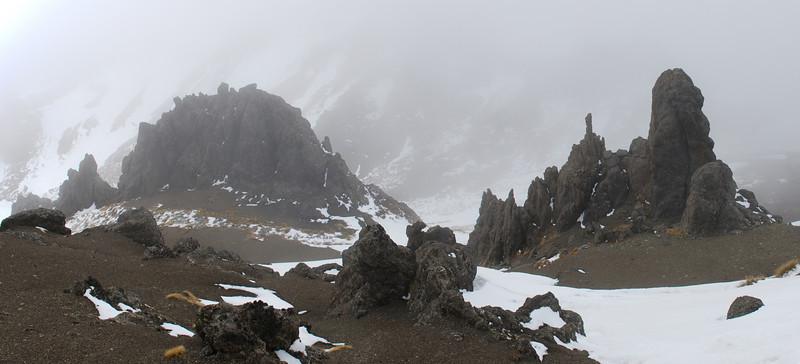Mt Cerberus rock formations