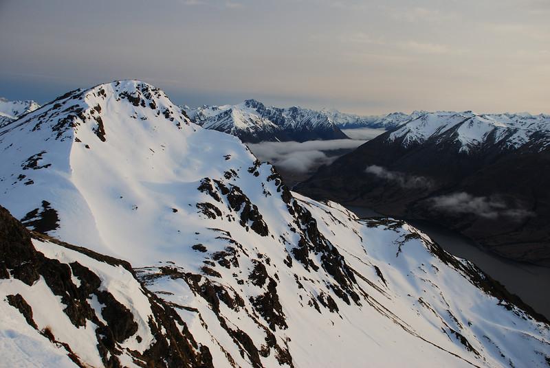 Peak 1581 north of Mt Eldon. Mt Mavora at centre image