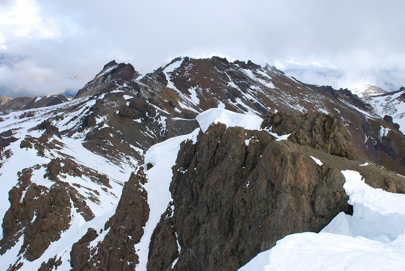 Looking south from the summit of Mt Cerberus
