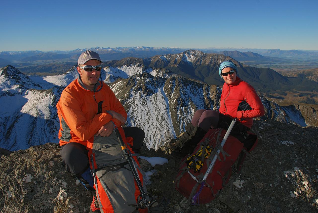 On Gladstone Peak, Takitimu Mountains. Mount Hamilton in the back