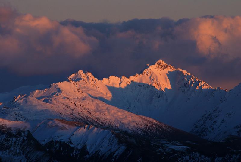 Minaret Peaks at sunrise