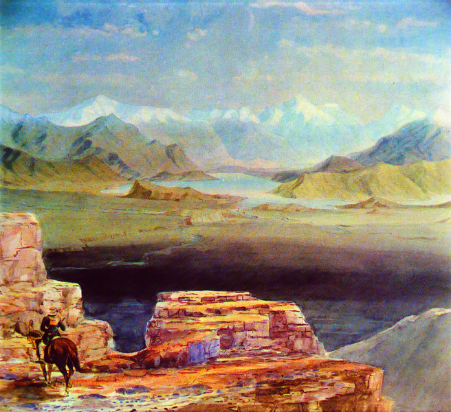 JT Thomson's painting of Grandview Mountain