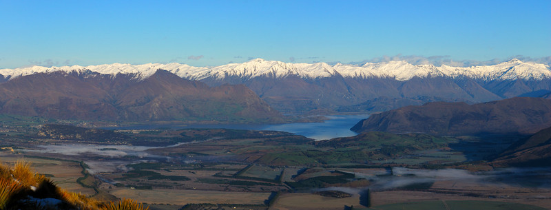View of Lake Wanaka from Grandview Mountain