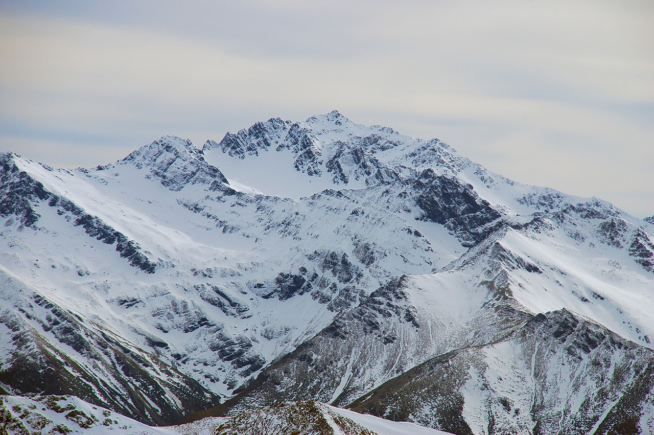 Unnamed Peak 1905m south-west of Mataura Saddle, from pt 1552m