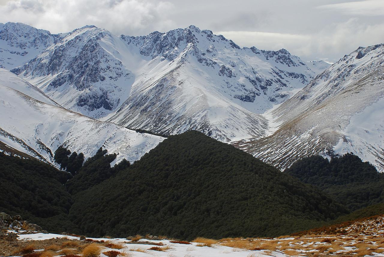 Unnamed peak 1674m at the head of Irthing Stream