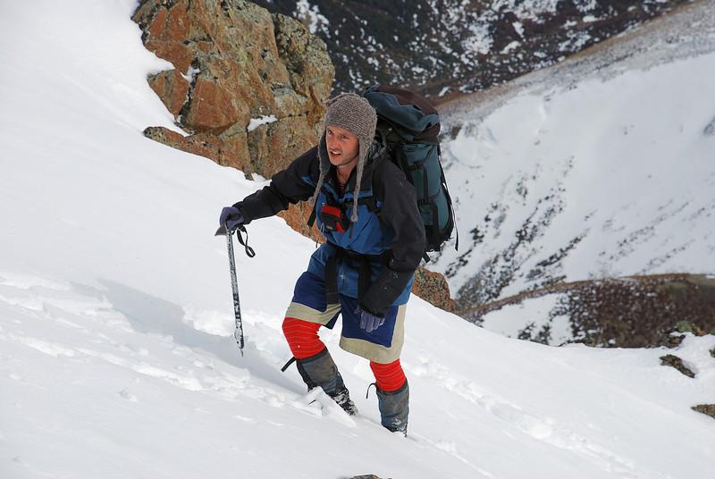 Robert nearing the summit of pt 1552m.