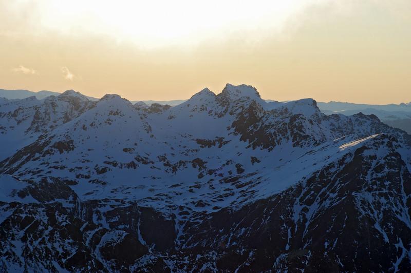 Eyre Peak from Jane Peak's northern outlier 1876m
