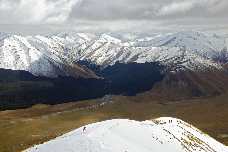 On the north-east shoulder of Smooth Peak, looking into the head of the Oreti River