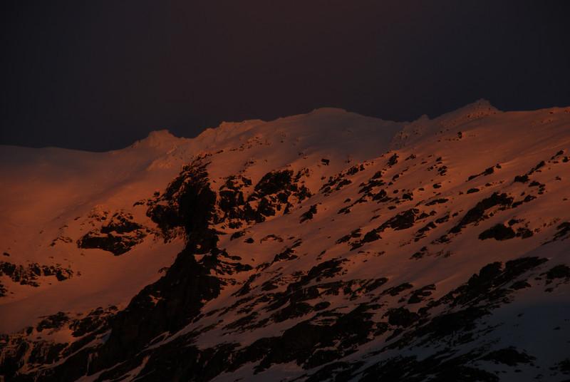 Last evening light on Jane Peak