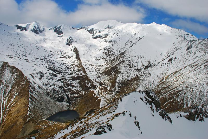 Jane Peak from the north-east shoulder of Smooth Peak