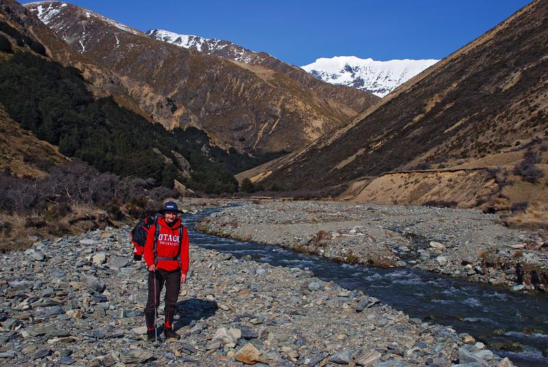 In the lower Gorge Burn. Jane Peak above.