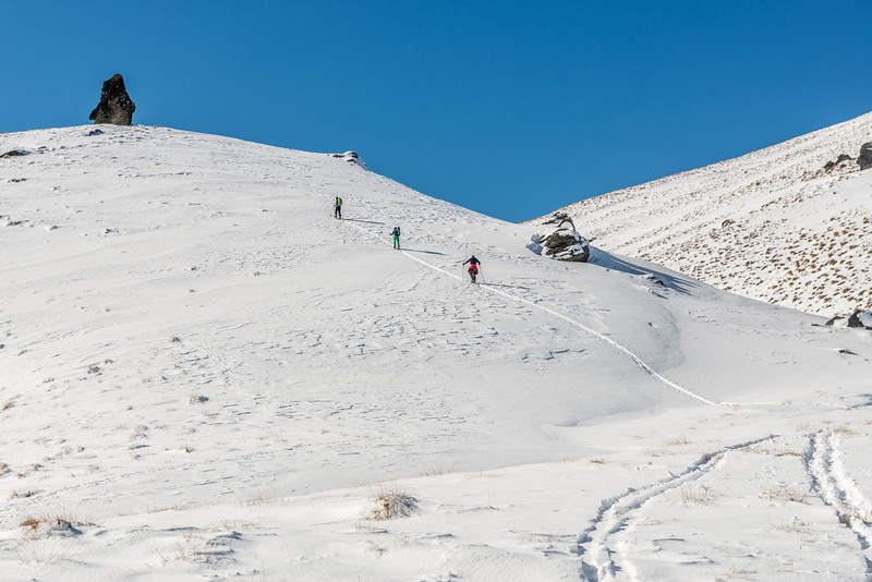 Ski-touring on the Pisa Range  - Prince Burn