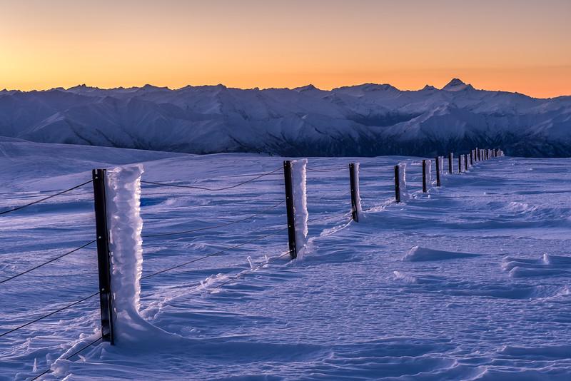 Fence to Mount Aspiring. On the tops between the Kirtle Burn and the Cliff Burn