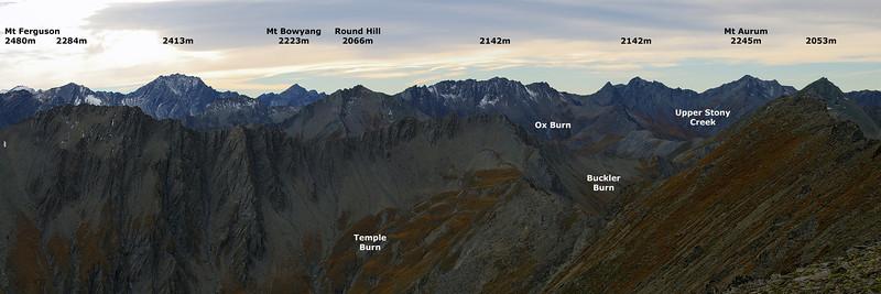Richardson Mountains panorama from Black Peak