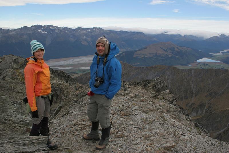 Siblings on Black Peak. Photo by Simone Sciolette