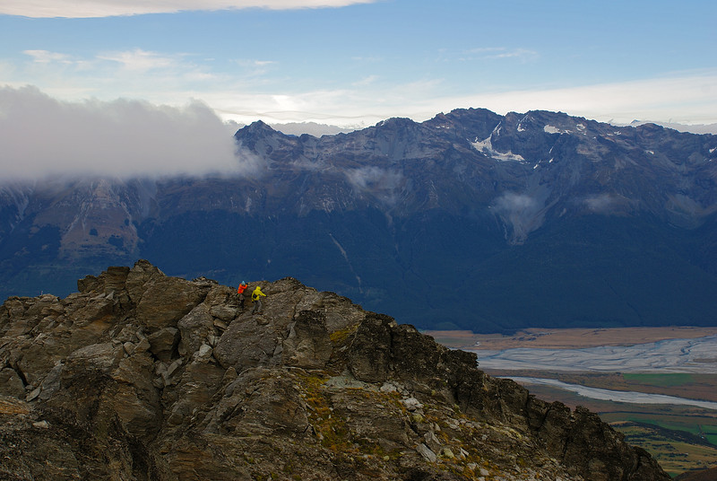 On Black Peak. Bold Peak and Mount Bonpland in the back