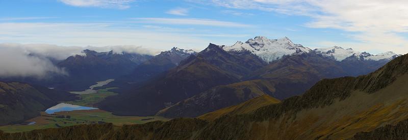 Panorama from Black Peak (north)