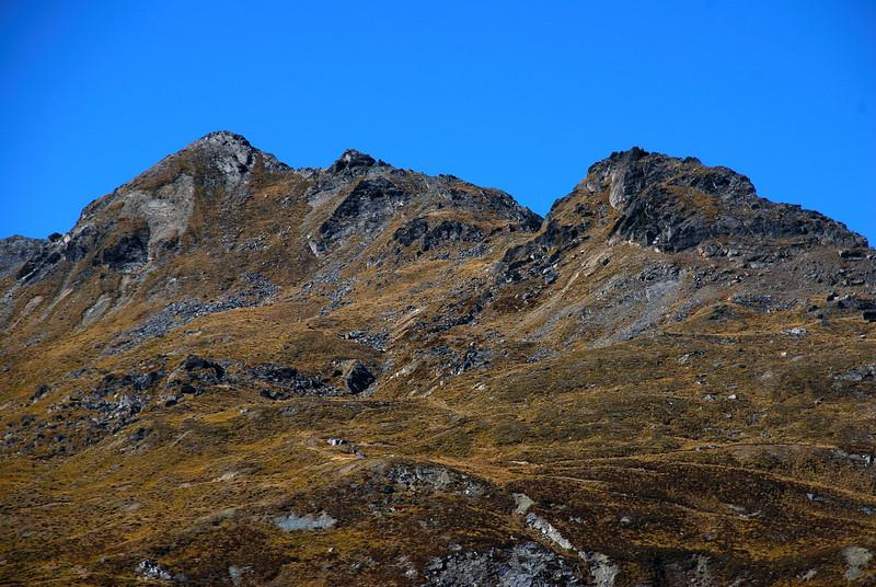 McIntosh Huts on Mt McIntosh. Great camouflage!