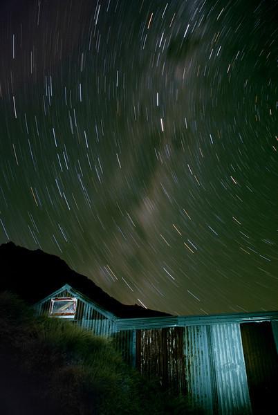 McIntosh Hut by night