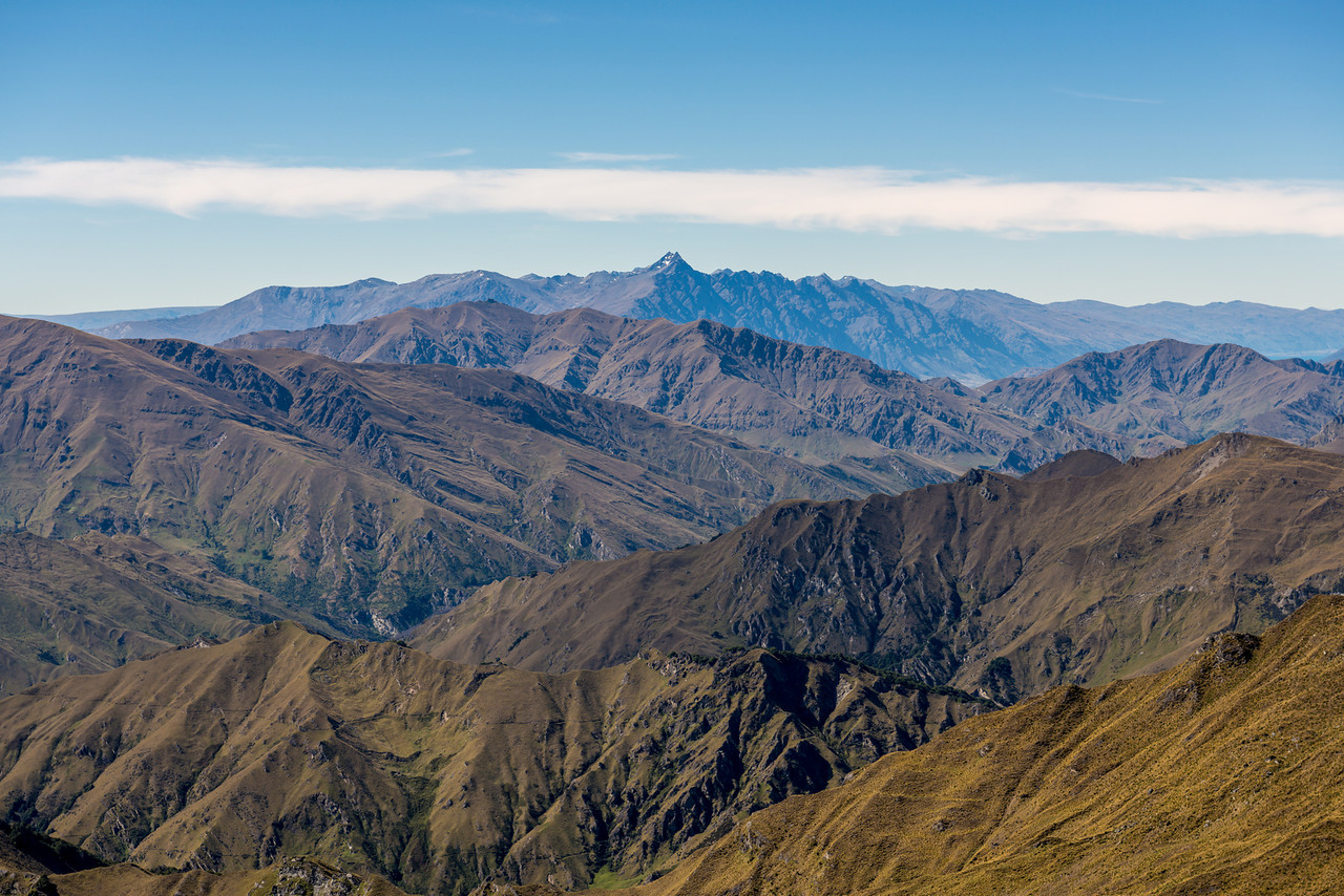 The Remarkables from Prince of Wales. Double Cone at centre image